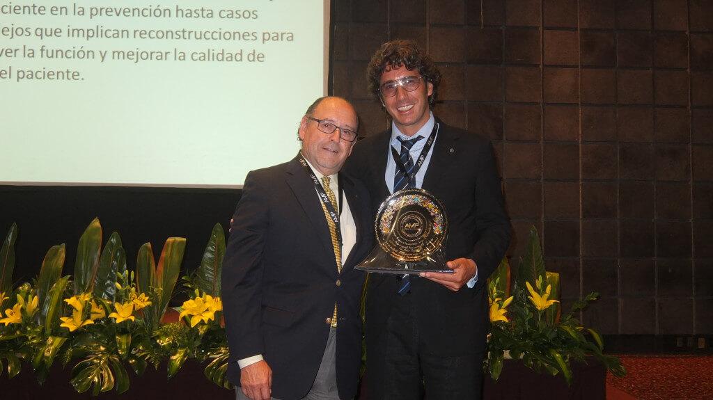 Il Dr. Fabio Vignoletti con il Prof. Raul Caffesse